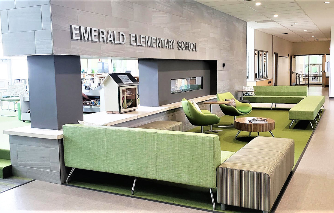 Emerald School Welcoming Entry by Education Design International by Fielding Nair International